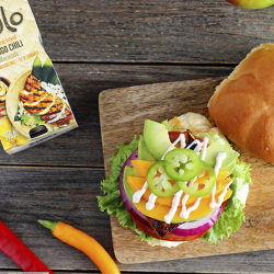 Mango Chili Tofu Burger